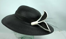 Vintage New Old Stock Sylvia New York Woman's Black Hat with retail Tag
