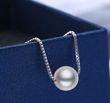 s925 Silver Dainty Simple Chain & Pearl Elegant Pendant Necklace