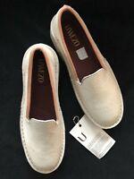 Uwezo Shoes Nuhu Loafer Slip On Calf Leather White Women's Sz 9.5 Africa NEW