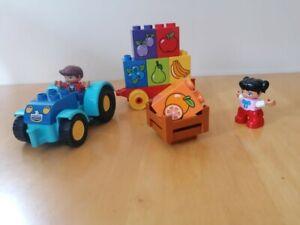 Duplo 4 complete original sets, Tractor, rocket, alphabet and number train