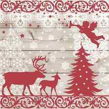 Christmas 20 Paper Lunch Napkins CHRISTMAS FOREST Nordic Style Winter Snow
