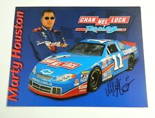 Marty Houston  #11 CHANNEL Lock NASCAR 8x11 Photo Card SIGNED