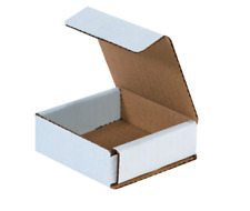 """1-500 Choose Quantity 3x3x1 Corrugated White Mailers Packing Boxes 3"""" x 3"""" x 1"""""""