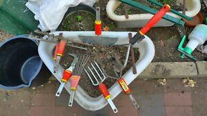 8 wolf garten tools multi-tool rake hoe lawn edger