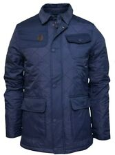 Mens Crosshatch 'Jackster' Quilted Padded Casual Winter Jacket Coat  Navy XL New