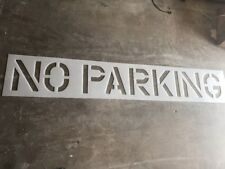 """New listing  12 In No Parking Parking lot stencil , 1/8"""" Ldpethick Plastic 12 X 9"""" Characters"""