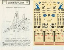 Microscale Decals 1:72 F-100 Super Sabres #3 Decal Sheet #72-126