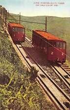 Mt Hiei Japan Cable Car Ascending Mountain Antique Postcard J66198