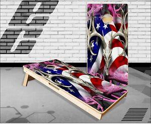 American Buck Obliteration Pink Cornhole Boards Bean Bag Toss Game