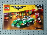 Lego Instructions 70903Batman Movie: The Riddler Riddle Racer. MANUAL ONLY