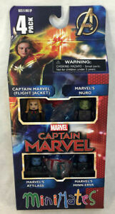 CAPTAIN MARVEL Minimates 4-Figure Box Set, ATT-LASS Nuro MINN-ERVA Flight Jacket