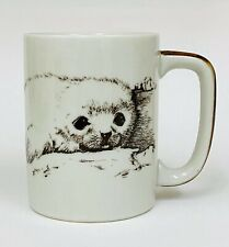 Otagiri Japan Sketch BABY SEAL Coffee Mug Cup Vintage
