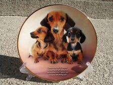 Danbury Mint DACHSHUND Doxie Weiner Dog COMPANIONS Plate