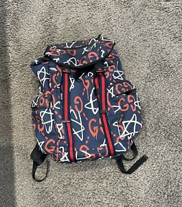 Gucci Ghost backpack Navy/red