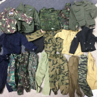 Random Lot 15Pcs 1/6 GI JOE WWII Soldier Uniform Dress for 12'' Dragon BBI Doll
