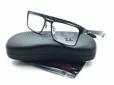 Ray Ban Men Black New Eyeglasses RB Carbon Fiber 8415 2848 53 Plastic