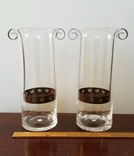 2 PartyLite Sunesta Candle Holders With Metal Inserts - 13 Inch - Poland Vguc