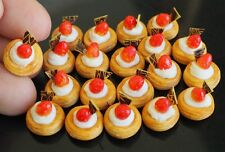 DOLLHOUSE MINIATURE 20 MINI DANISH PASTRY BAKERY DESSERT FOOD SUPPLY SWEET DECO