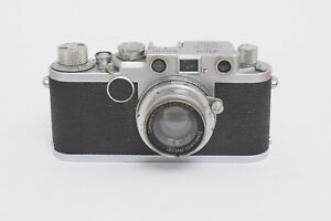 Leica If von 1955 defekt mit Summer 5cm 1:2 und orig Lederetui