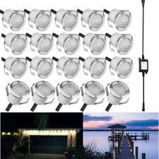 20Pcs Warm White 12V 30mm Outdoor Garden Yard Path LED Deck Stair Soffit Lights