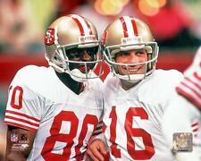 Joe Montana and Jerry Rice San Francisco 49ers NFL Photo 8x10