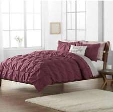 New Sonoma Goods For Life® Fallon Pleated Duvet Cover Set Full/Queen Burgundy
