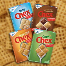 General Mills Chex Cereal Gluten Free - Chocolate, Honey Nut, Rice, Corn.