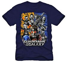 NWT Marvel Guardians of the Galaxy Navy Blue Graphic Tee T-Shirt Boys Size 4