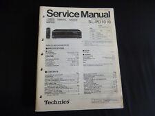 Original Service Manual Technics sl-pd1000