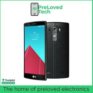 LG G4 Smartphone, 32GB Storage, Black Leather, on EE Network - Grade A