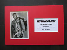 """THE WALKING DEAD """"MORGAN JONES"""" - LENNIE JAMES SIGNED PRINTED A4 MOUNTED PHOTO"""