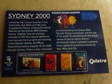"""Telstra 4 x Mascot Phone Card"" Pins Sydney 2000 Olympic Games"