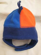 9a2de3e61e345d REI Fleece Baby Hat Cap Toboggan Toddlers 12 - 24 Month Blue Orange Winter  Warm