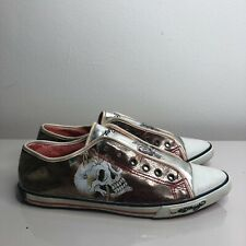 Womens Ed hardy shoes size 9 skeleton pointy flats