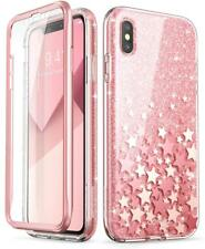 For iPhone Ten XS Max Case Scratch Resistant Full Body Bling Glitter Bumper 6 5