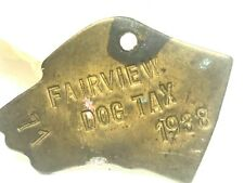 1938-Fairview Dog Tax-#71 Tag-License-Pet Collar-Oklahoma-Pound Catcher-Stray(M)
