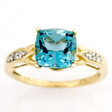 Cushion Wedding Natural Fine Gemstone Rings