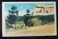 Linen Postcard~ Harold Wright~ Shepherd Of The Hill~West Of Branson, MO~ P968