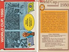 340 URUGUAY Vs BRAZIL # ENGLAND WORLD CUP 1950 CARD PREMIER LEAGUE TOPPS 1978