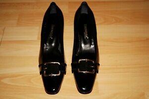 NEUE  BRUNELLA   Damen  Lack Leder  Pumps  Gr. 40,5 W   schwarz   made in Italy
