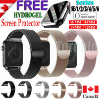 For Apple Watch iWatch Band Series 6 5 4 3 2 1 Magnetic Stainless Steel Strap
