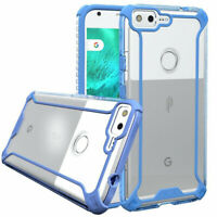 Poetic For Google Pixel XL TPU Bumper Slim Shockproof Cover Case Blue/Clear