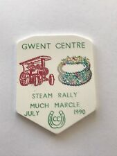 caravan plastic plaque - gwent centre. steam rally much marcle july 1990