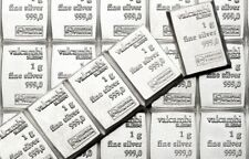 10 x 1 gram Valcambi Suisse Silver Bars | .999 | Lot of 10 | Volume Pricing
