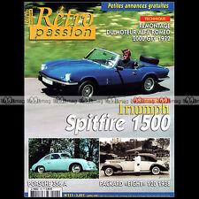 RETRO PASSION N°153 TRIUMPH SPITFIRE 1500 PORSCHE 356 A PACKARD 8 EIGHT 120