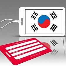 TagCrazy Luggage Tags, National Flag of South Korea, Durable Plastic Loops-1 Pk