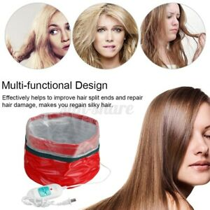 Electric Hair Steamer Heating Cap Hat Thermal Treatment Care Styling Nourishing