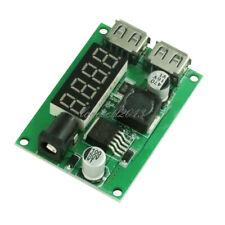 DC-DC 12V/24V/36V to 5V 3A Dual USB Step Down Buck Converter Voltmeter For Car L