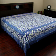 Cotton Rajasthan Block Print Tapestry Wall Hanging Tablecloth Spread Throw Full