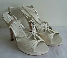 Ladies Benjamin Adams Ivory Bridal Sandals  Platform High Heel  Size UK5/38